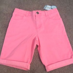 Brand new with tags Carter's girls hot pink shorts